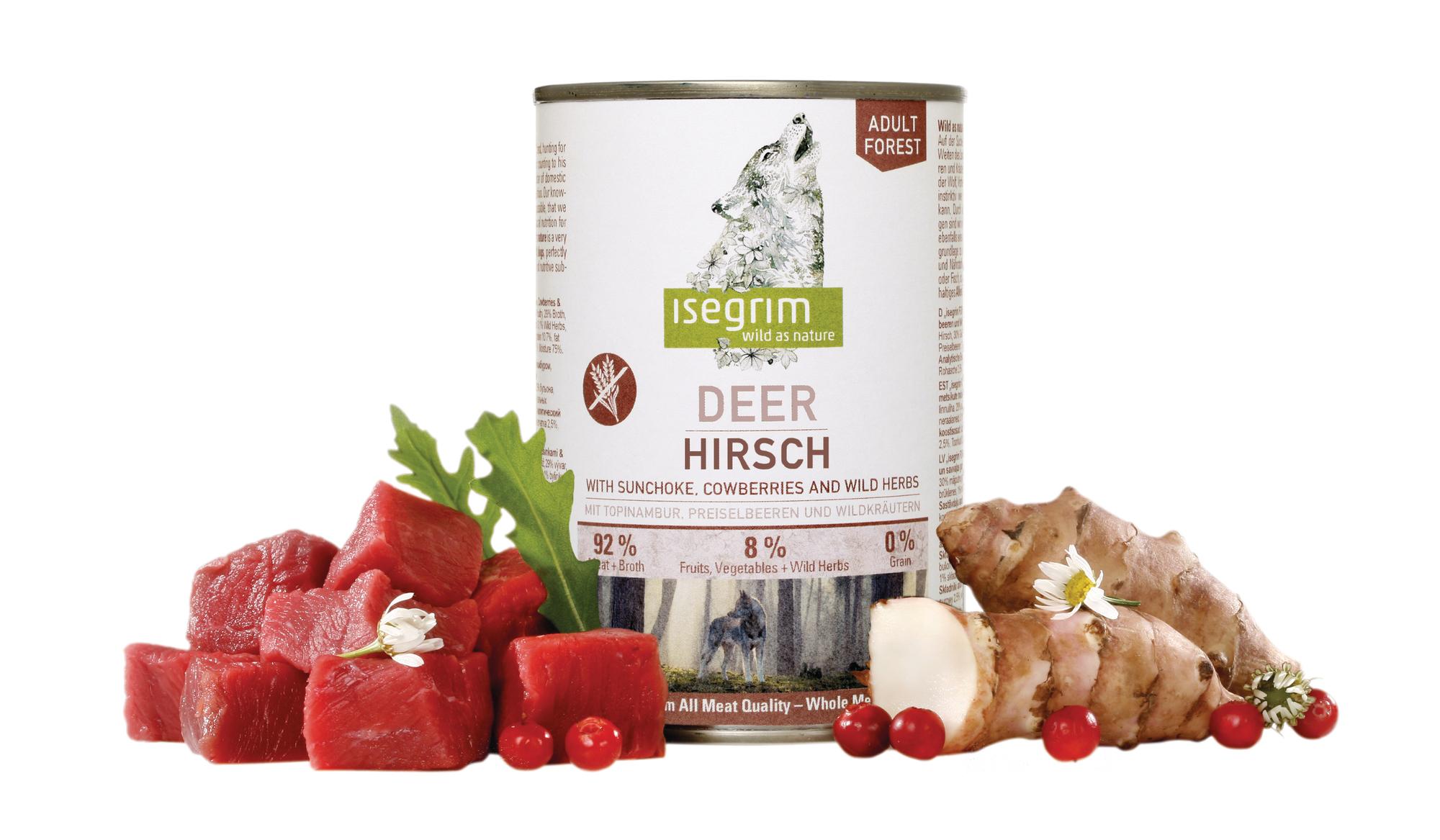 ISEGRIM Adult Forest: Jelen s topinambury, brusinkami a bylinkami 400 g