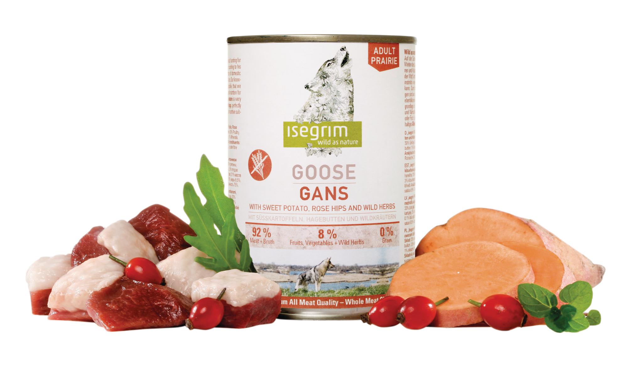 ISEGRIM Adult Prairie: Husa s batáty, šípkem a bylinkami 800g