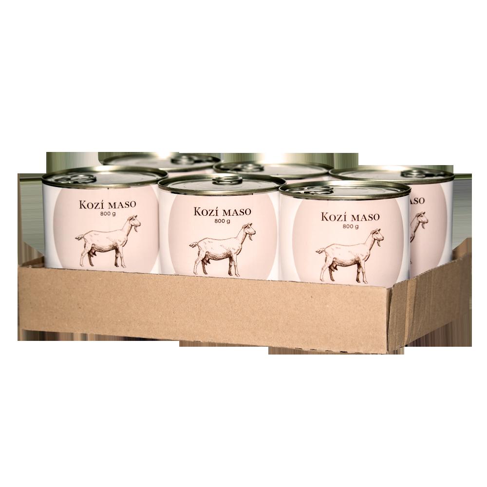 SIX PACK BOHEMIA Kozí maso ve vlastní šťávě 800 g