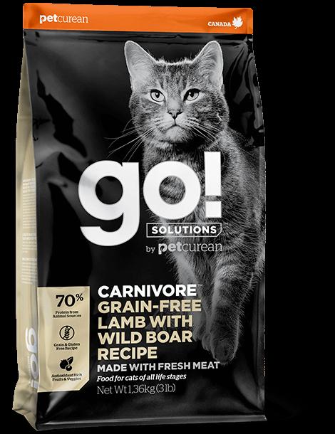 GO! Solutions Carnivore Lamb & Wild Boar Cat 7,3 kg