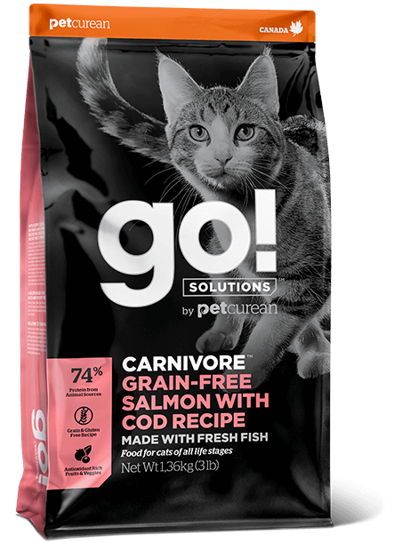GO! Solutions Carnivore Salmon&Cod Cat 7,3 kg